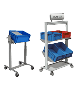 Mobile trolley with bin holder