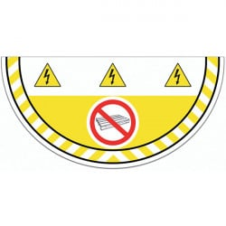 Adhesive pictogram Prohibited to store for ground marking