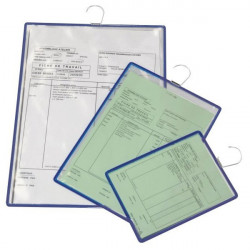 Document sleeves with hook for DOCAFLEX