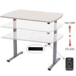 Electrically adjustable ergonomic desk | LEANERGO ELECTRIC