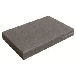 Granite support plate on shock absorbers
