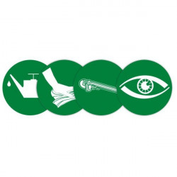 Green magnetic maintenance pictogram