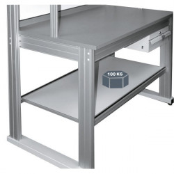 Lower stainless steel shelf