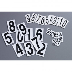 Magnetic digits from 0 to 9