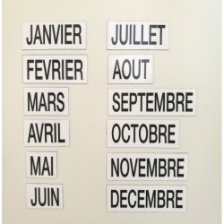 Magnetic months labels (january to december)