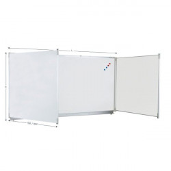 Magnetic triptych whiteboard for felt writing | TRIPTYQUE