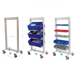 Mobile tray-holder trolley | LEANPOST 600
