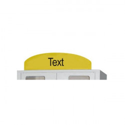 """Rounded headband """"TEXT TO CHOOSE""""   Rounded sign"""