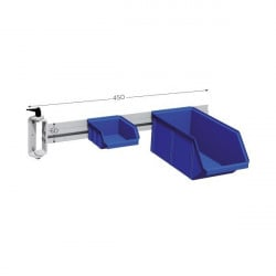Side swivel support for plastic bins
