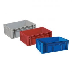 Stacking storage plastic parts bin