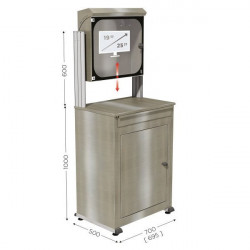 Stainless steel computer cabinet | MOBIPOST 550A STAINLESS STEEL