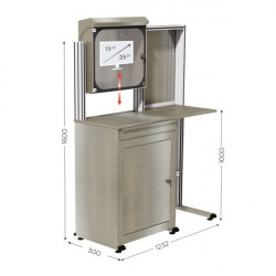 Stainless steel computer cabinet | MOBIPOST 550B STAINLESS STEEL