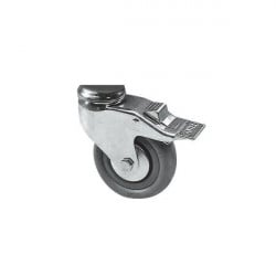 Stainless steel swivel roller wheels with brakes (Ø 100 mm)
