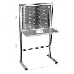 Stainless steel tool-holder workstation | MAINTPOST 850 INOX