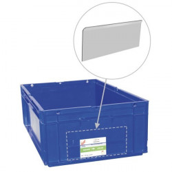 Transparent card adapter for plastic bin | Transparent adapter