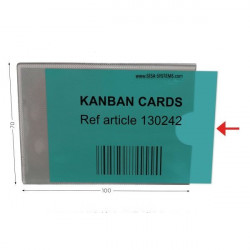 Transparent KANBAN cards | KANBAN transparent card