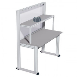 Upper stainless steel shelf