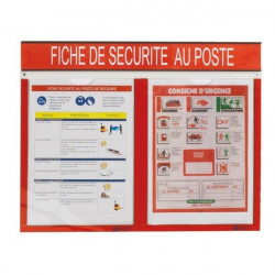 WORKPLACE SAFETY sheet holder | WORKPLACE SAFETY NOTE