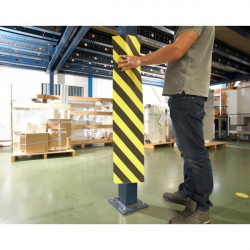 Yellow/black protection strips | ADHESIVE PROTECTIVE STRIPS