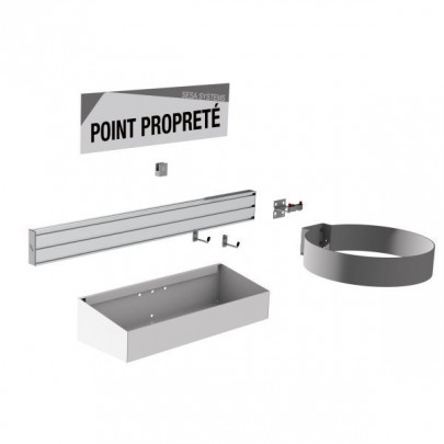 5S Cleaning Station   NETPOST 400B WALL-MOUNTED