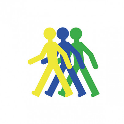 Adhesive pictogram on the floor Pedestrian silhouette