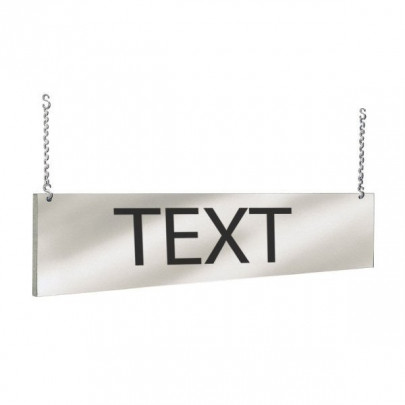 """Both-sided air band """"TEXT TO CHOOSE"""" 
