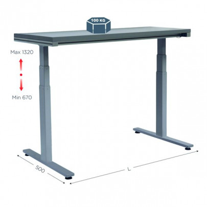 Electrical industrial workstation | QUALIPOST 620 ERGO