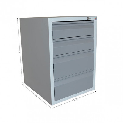 Housing with 4 lockable drawers for QUALIPOST 3000