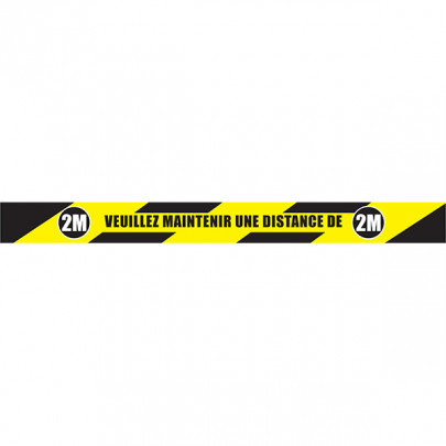 Keep your distance 2M - Roll of EXTRA marking tape | Adhesive roll: 2M distance