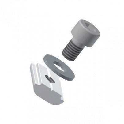 M5 T-slot nut with washer and L 8 mm screws for aluminium extrusion profile mounting