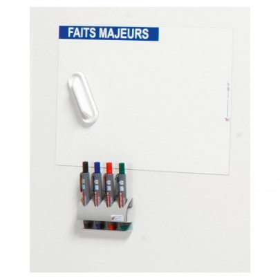 Magnetic plate for monitoring indicators | VISIOFLASH MAIN FACTS