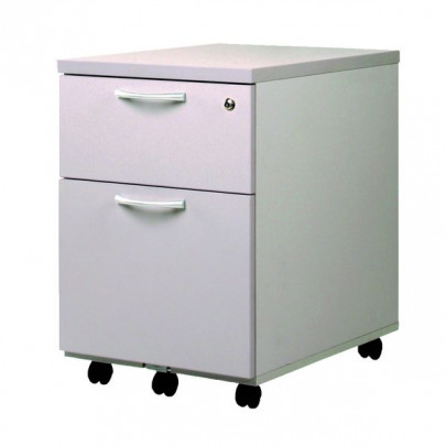 Mobile pedestal 2 storage drawers