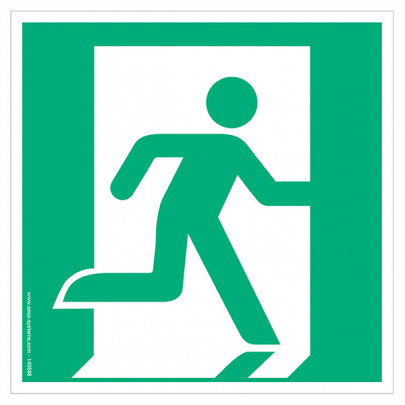 Pictograms Emergency exit on the right E002