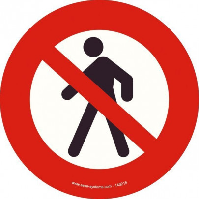 Pictograms Pedestrians prohibited