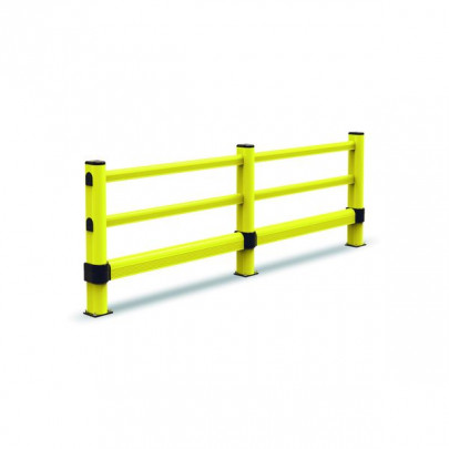 Post for a circulation barrier fixed to the ground | Circulation barrier