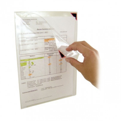 Repositionable adhesive document sleeves