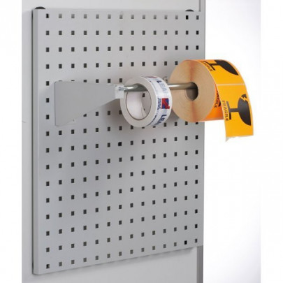 Roll dispenser for perforated back