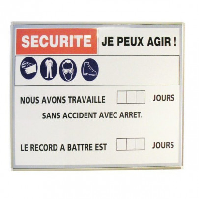 Silkscreen-printed magnetic panel | SECURITY RECEPTION wall-mounted panel