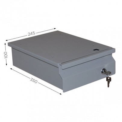 Single drawer with lock