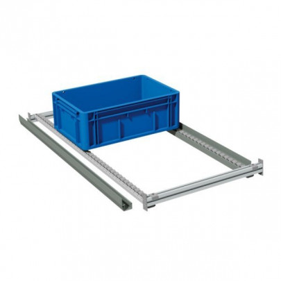 Stackable lateral guiding rail