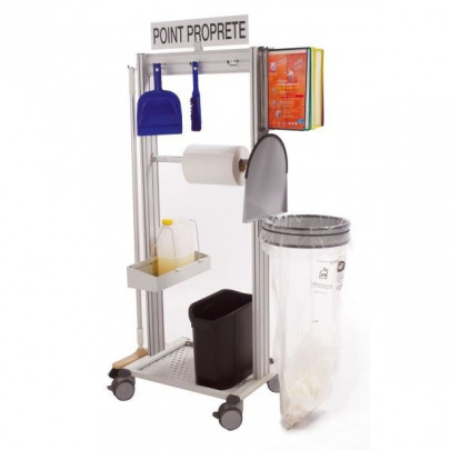 Stainless steel 5S mobile cleaning station | NETPOST 650 STAINLESS STEEL