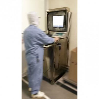 Stainless steel computer cabinet | MOBIPOST 950 INOX