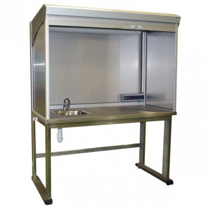Stainless steel control station with sink | QUALIPOST 4500B