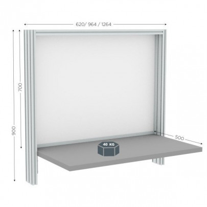 Wall-mounted quality control station | QUALIPOST 200B WALL-MOUNTED