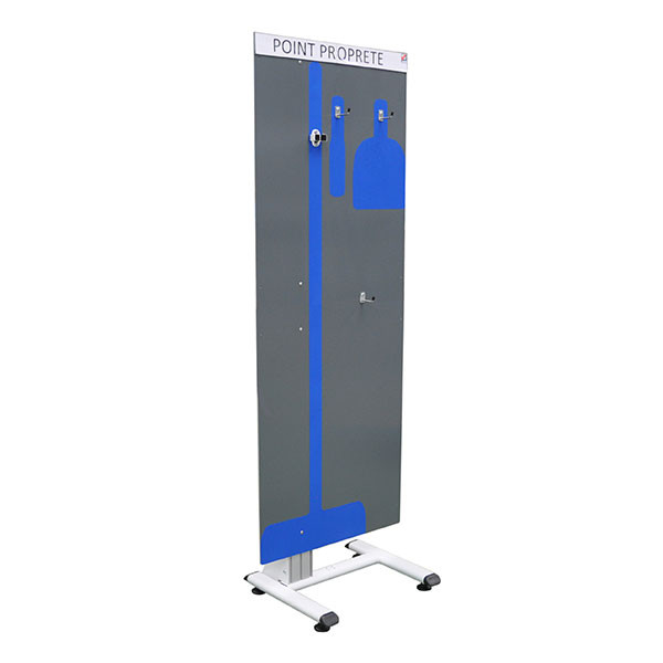 5S cleaning station shadow board with tool and hook holder   NETPOST 300
