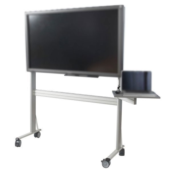 Aluminum support for interactive screen