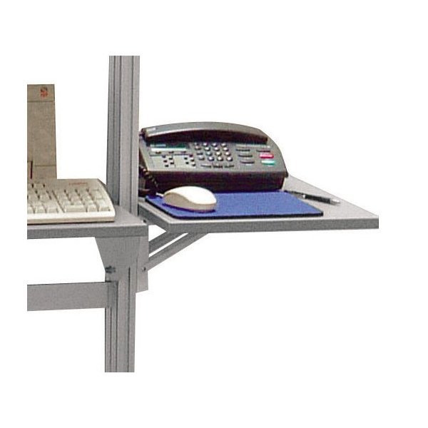 Height-adjustable and retractable lateral writing surface