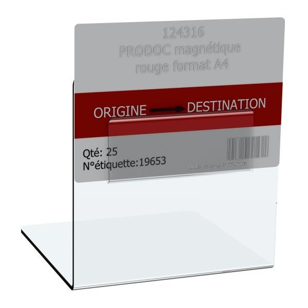 KANBAN card holder for pallet | Support for pallet