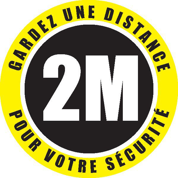 Keep your distance 2M - Pictogram sticky | Adhesive pictogram 2M