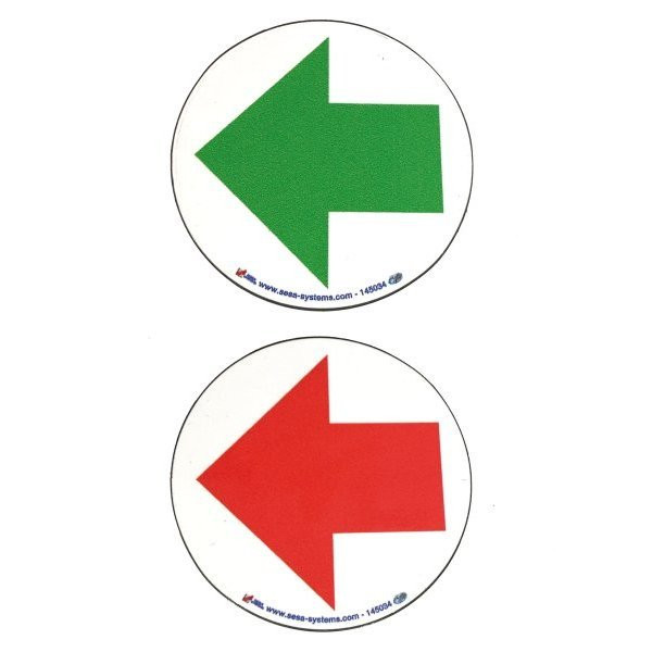 Magnetic arrows (green on front / red on back)